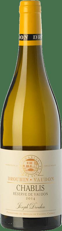27,95 € Free Shipping | White wine Drouhin Réserve de Vaudon Reserva A.O.C. Chablis Burgundy France Chardonnay Bottle 75 cl