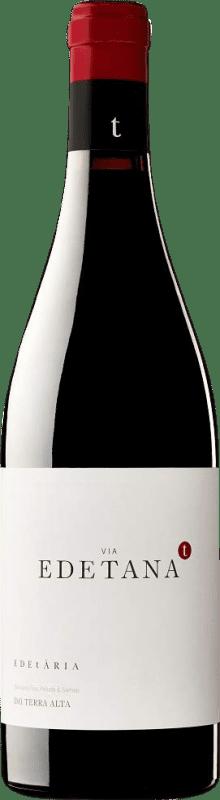 11,95 € Free Shipping | Red wine Edetària Via Edetana Negre Crianza D.O. Terra Alta Catalonia Spain Syrah, Grenache, Carignan Bottle 75 cl