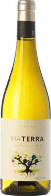 8,95 € Envío gratis | Vino blanco Edetària Via Terra Blanc D.O. Terra Alta Cataluña España Garnacha Blanca Botella 75 cl