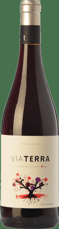 7,95 € Free Shipping | Red wine Edetària Via Terra Negre Joven D.O. Terra Alta Catalonia Spain Grenache Bottle 75 cl