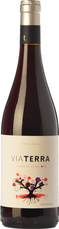 9,95 € Envío gratis | Vino tinto Edetària Via Terra Negre Joven D.O. Terra Alta Cataluña España Garnacha Botella 75 cl