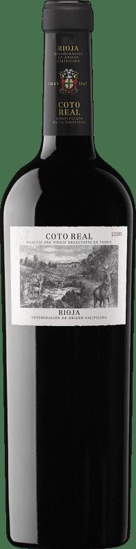 26,95 € Envoi gratuit | Vin rouge Coto de Rioja Coto Real Reserva D.O.Ca. Rioja La Rioja Espagne Tempranillo, Grenache, Mazuelo Bouteille 75 cl