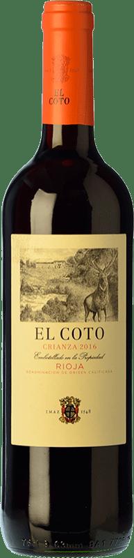 5,95 € Envío gratis | Vino tinto Coto de Rioja Crianza D.O.Ca. Rioja La Rioja España Tempranillo Botella 75 cl