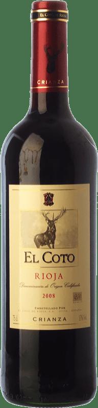 15,95 € Envoi gratuit | Vin rouge Coto de Rioja Crianza D.O.Ca. Rioja La Rioja Espagne Tempranillo Bouteille Magnum 1,5 L