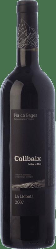 16,95 € Envío gratis | Vino tinto El Molí Collbaix La Llobeta Crianza D.O. Pla de Bages Cataluña España Merlot, Cabernet Sauvignon, Cabernet Franc Botella 75 cl
