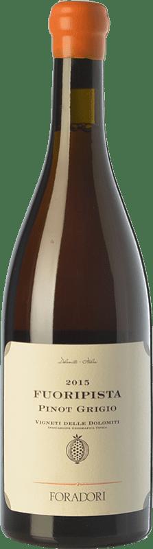26,95 € Free Shipping | White wine Foradori Fuoripista Pinot Grigio I.G.T. Vigneti delle Dolomiti Trentino Italy Pinot Grey Bottle 75 cl