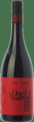 9,95 € Free Shipping | Red wine Emendis Duet Varietal Joven D.O. Penedès Catalonia Spain Tempranillo, Syrah Bottle 75 cl