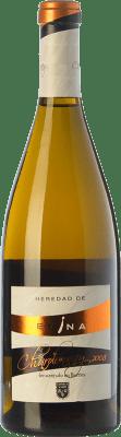 12,95 € Envío gratis | Vino blanco Emina Heredad Barrica Crianza I.G.P. Vino de la Tierra de Castilla y León Castilla y León España Chardonnay Botella 75 cl