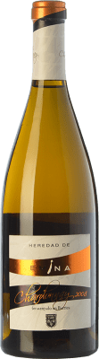 15,95 € Free Shipping | White wine Emina Heredad Barrica Crianza 2008 I.G.P. Vino de la Tierra de Castilla y León Castilla y León Spain Chardonnay Bottle 75 cl | Thousands of wine lovers trust us to get the best price guarantee, free shipping always and hassle-free shopping and returns.