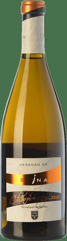 12,95 € Free Shipping | White wine Emina Heredad Barrica Crianza I.G.P. Vino de la Tierra de Castilla y León Castilla y León Spain Chardonnay Bottle 75 cl
