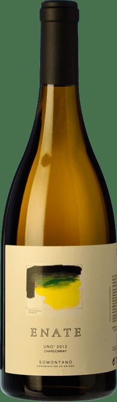 322,95 € Envío gratis | Vino blanco Enate Uno Crianza D.O. Somontano Aragón España Chardonnay Botella 75 cl