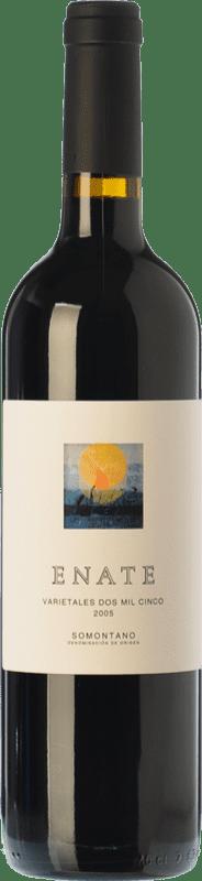27,95 € Free Shipping | Red wine Enate Varietales Crianza D.O. Somontano Aragon Spain Tempranillo, Merlot, Cabernet Sauvignon Bottle 75 cl