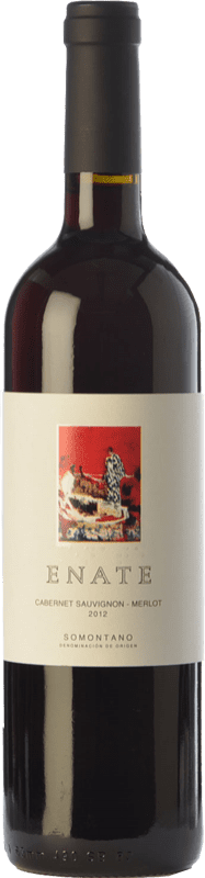 7,95 € Free Shipping | Red wine Enate Cabernet Sauvignon-Merlot Joven D.O. Somontano Aragon Spain Merlot, Cabernet Sauvignon Bottle 75 cl