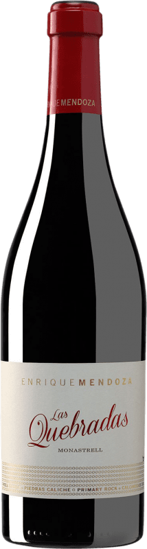 26,95 € Free Shipping | Red wine Enrique Mendoza Las Quebradas Crianza D.O. Alicante Valencian Community Spain Monastrell Bottle 75 cl