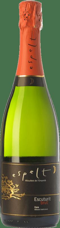 8,95 € Free Shipping | White sparkling Espelt Escuturit Brut Reserva D.O. Cava Catalonia Spain Macabeo, Xarel·lo, Chardonnay Bottle 75 cl