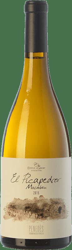 9,95 € Free Shipping   White wine Esteve i Gibert El Picapedrer Crianza D.O. Penedès Catalonia Spain Macabeo Bottle 75 cl