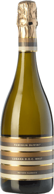15,95 € Free Shipping | White sparkling Olivini Brut 2011 D.O.C. Lugana Lombardia Italy Trebbiano di Lugana Bottle 75 cl. | Thousands of wine lovers trust us to get the best price guarantee, free shipping always and hassle-free shopping and returns.