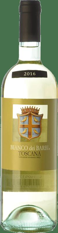7,95 € Envío gratis | Vino blanco Fattoria dei Barbi Bianco dei Barbi I.G.T. Toscana Toscana Italia Trebbiano, Chardonnay Botella 75 cl