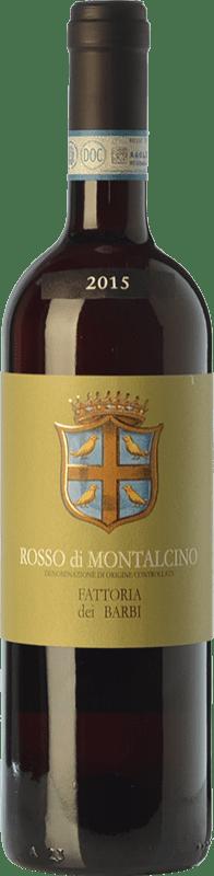 16,95 € Envío gratis | Vino tinto Fattoria dei Barbi D.O.C. Rosso di Montalcino Toscana Italia Sangiovese Botella 75 cl