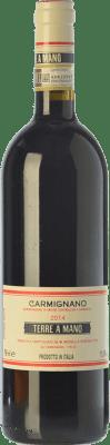34,95 € Free Shipping | Red wine Fattoria di Bacchereto Terre a Mano D.O.C.G. Carmignano Tuscany Italy Cabernet Sauvignon, Sangiovese, Canaiolo Black Bottle 75 cl