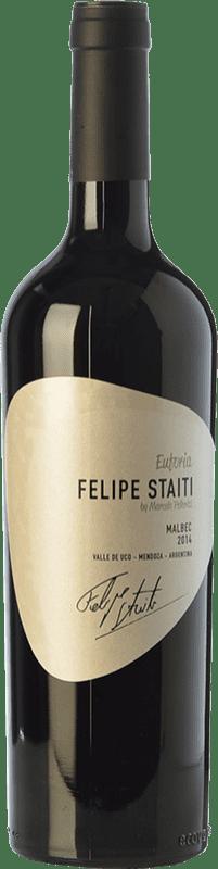 21,95 € Envoi gratuit | Vin rouge Felipe Staiti Euforia Reserva I.G. Valle de Uco Uco Valley Argentine Malbec Bouteille 75 cl