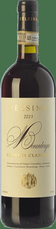 12,95 € Envío gratis | Vino tinto Fèlsina D.O.C.G. Chianti Classico Toscana Italia Sangiovese Botella 75 cl