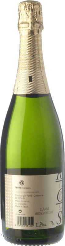 9,95 € Envio grátis | Espumante branco Ferré i Catasús Brut Nature Reserva D.O. Cava Catalunha Espanha Macabeo, Xarel·lo, Chardonnay, Parellada Garrafa 75 cl
