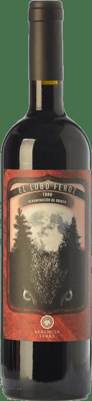 8,95 € Envío gratis | Vino tinto Ferré i Catasús El Lobo Feroz Joven D.O. Toro Castilla y León España Tinta de Toro Botella 75 cl