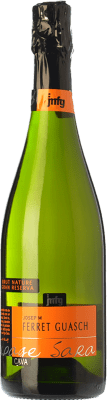 19,95 € Free Shipping | White sparkling Ferret Guasch Coupage Sara Brut Nature Gran Reserva 2009 D.O. Cava Catalonia Spain Macabeo, Xarel·lo, Chardonnay, Parellada Bottle 75 cl. | Thousands of wine lovers trust us to get the best price guarantee, free shipping always and hassle-free shopping and returns.