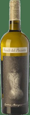 16,95 € Free Shipping | White wine Feudi del Pisciotto Kisa I.G.T. Terre Siciliane Sicily Italy Grillo Bottle 75 cl