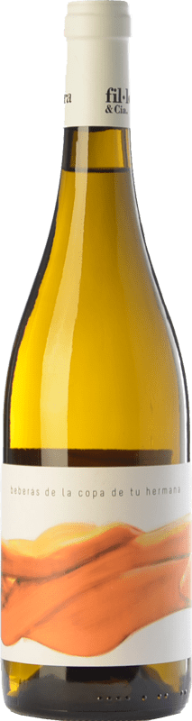 14,95 € Free Shipping | White wine Fil'loxera Beberás de la Copa de tu Hermana Crianza D.O. Valencia Valencian Community Spain Monastrell, Macabeo, Subirat Parent Bottle 75 cl