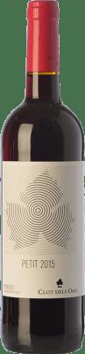 4,95 € Envío gratis | Vino tinto Ca N'Estella Petit Clot dels Oms Negre Joven D.O. Penedès Cataluña España Merlot, Cabernet Sauvignon Botella 75 cl