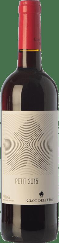 4,95 € Free Shipping | Red wine Ca N'Estella Petit Clot dels Oms Negre Joven D.O. Penedès Catalonia Spain Merlot, Cabernet Sauvignon Bottle 75 cl
