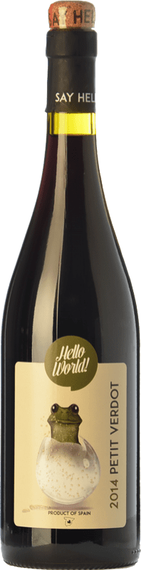 4,95 € Free Shipping | Red wine Finca La Estacada Hello World Joven I.G.P. Vino de la Tierra de Castilla Castilla la Mancha Spain Petit Verdot Bottle 75 cl