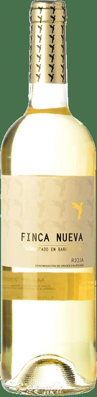 8,95 € Envío gratis | Vino blanco Finca Nueva Fermentado en Barrica Crianza D.O.Ca. Rioja La Rioja España Viura Botella 75 cl