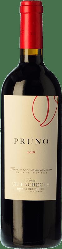 9,95 € Free Shipping | Red wine Finca Villacreces Pruno Crianza D.O. Ribera del Duero Castilla y León Spain Tempranillo, Cabernet Sauvignon Bottle 75 cl