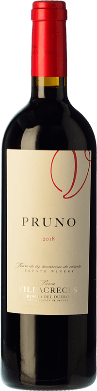 12,95 € Envoi gratuit | Vin rouge Finca Villacreces Pruno Crianza D.O. Ribera del Duero Castille et Leon Espagne Tempranillo, Cabernet Sauvignon Bouteille 75 cl