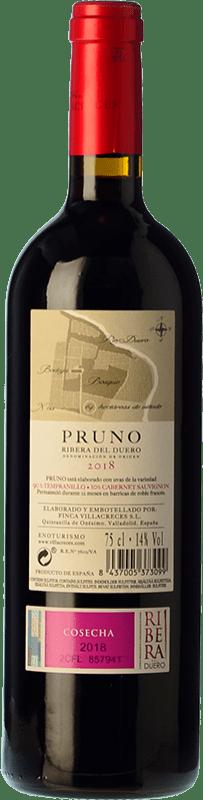 12,95 € Free Shipping | Red wine Finca Villacreces Pruno Crianza D.O. Ribera del Duero Castilla y León Spain Tempranillo, Cabernet Sauvignon Bottle 75 cl