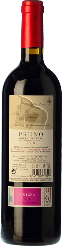 8,95 € Envoi gratuit   Vin rouge Finca Villacreces Pruno Crianza D.O. Ribera del Duero Castille et Leon Espagne Tempranillo, Cabernet Sauvignon Bouteille 75 cl