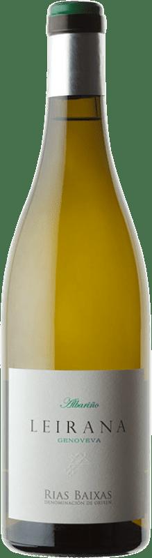 27,95 € Envio grátis | Vinho branco Forjas del Salnés Leirana Finca Genoveva Crianza D.O. Rías Baixas Galiza Espanha Albariño Garrafa 75 cl