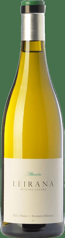 32,95 € Envío gratis | Vino blanco Forjas del Salnés Leirana Ma. Luisa Lázaro D.O. Rías Baixas Galicia España Albariño Botella 75 cl