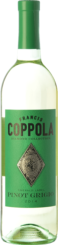 21,95 € Envoi gratuit | Vin blanc Francis Ford Coppola Diamond Pinot Grigio I.G. California Californie États Unis Sauvignon Blanc, Pinot Gris Bouteille 75 cl