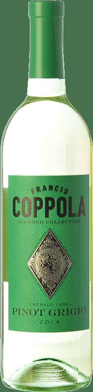 21,95 € Free Shipping | White wine Francis Ford Coppola Diamond Pinot Grigio I.G. California California United States Sauvignon White, Pinot Grey Bottle 75 cl