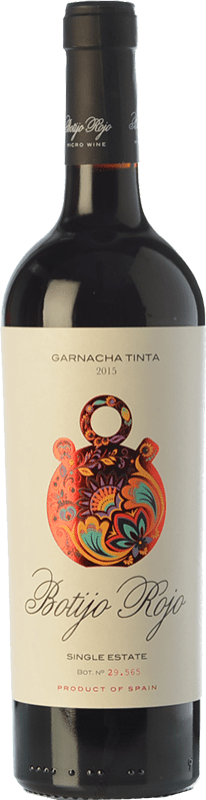 9,95 € Free Shipping | Red wine Frontonio Botijo Rojo Crianza I.G.P. Vino de la Tierra de Valdejalón Aragon Spain Grenache Bottle 75 cl