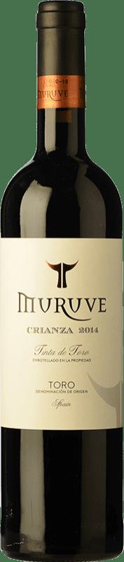 8,95 € Free Shipping | Red wine Frutos Villar Muruve Crianza D.O. Toro Castilla y León Spain Tinta de Toro Bottle 75 cl