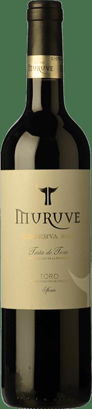 13,95 € Envío gratis | Vino tinto Frutos Villar Muruve Reserva D.O. Toro Castilla y León España Tinta de Toro Botella 75 cl