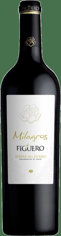 39,95 € Free Shipping | Red wine Figuero Milagros Crianza D.O. Ribera del Duero Castilla y León Spain Tempranillo Bottle 75 cl