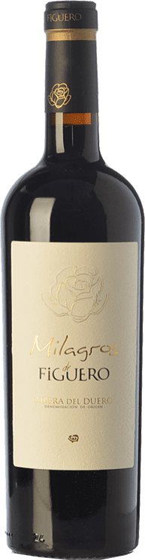 36,95 € Envío gratis | Vino tinto Figuero Milagros Crianza D.O. Ribera del Duero Castilla y León España Tempranillo Botella 75 cl
