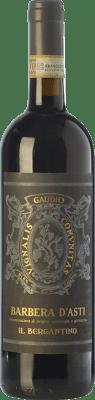 19,95 € Envío gratis | Vino tinto Gaudio il Bergantino D.O.C. Barbera d'Asti Piemonte Italia Barbera Botella 75 cl