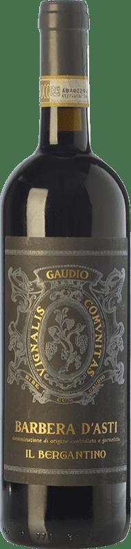 19,95 € Free Shipping | Red wine Gaudio il Bergantino D.O.C. Barbera d'Asti Piemonte Italy Barbera Bottle 75 cl